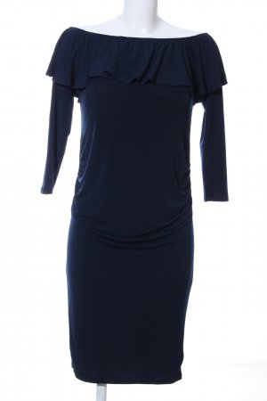 Midikleid blau Business-Look