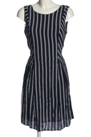 Blueberry Mini Dress black-white striped pattern casual look