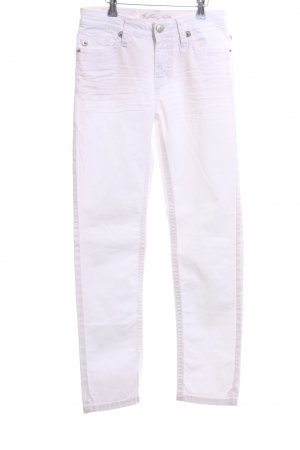 bluefire Jeans slim fit bianco stile casual