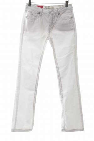 bluefire Jeans a gamba dritta bianco stile casual