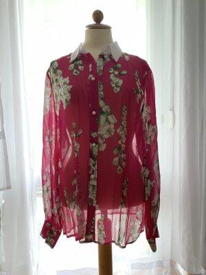 Bluegirl Blouse kraagje roze Polyester