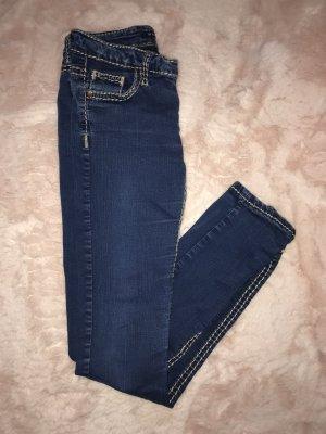 Cipo & Baxx Stretch Jeans dark blue-white
