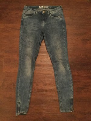 Only Hoge taille jeans staalblauw