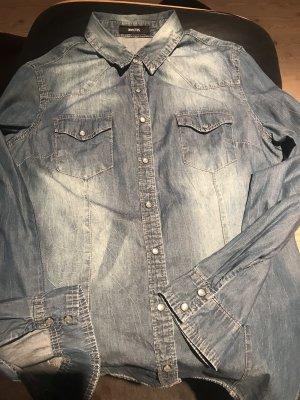 Bluejeans Hemd/Bluse mit Perlmutt Druckknöpfe