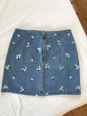 Blümchen Jeans Rock H&M