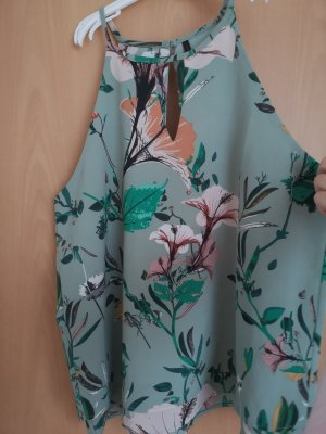 Only Blouse topje turkoois-cadet blauw