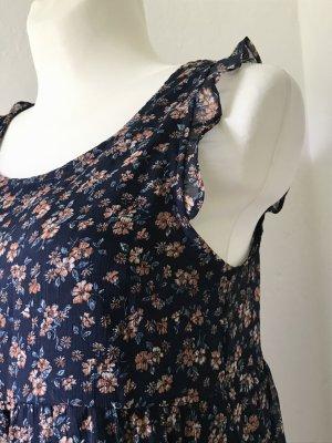 Blümchen Sommerkleid mit Rüschchen Ärmellos Größe M/38
