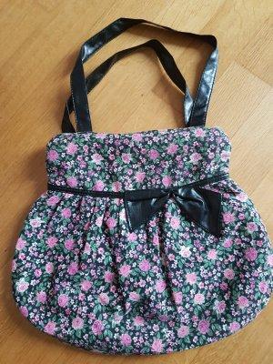 Handbag multicolored polyester