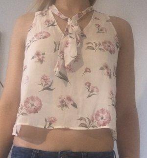 Forever 21 Débardeur à bretelles blanc-rose clair