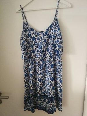 Blümchenkleid blau weiß H&M