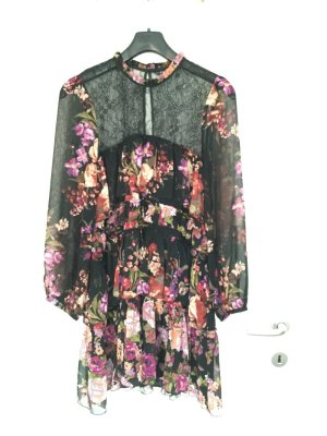 Zara Vestido estilo flounce multicolor