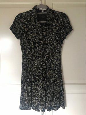 Blümchenkleid schwarz vintage