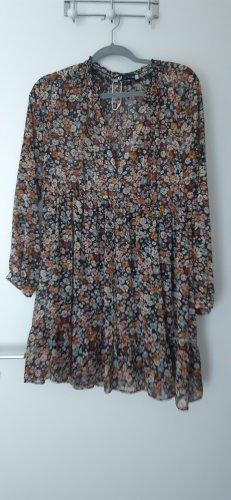 Zara Robe à manches longues multicolore
