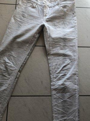 Blue Monkey Jeans skinny bianco-argento