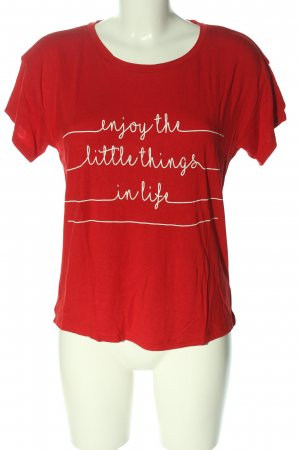 Bluemotion T-shirt rood gedrukte letters casual uitstraling