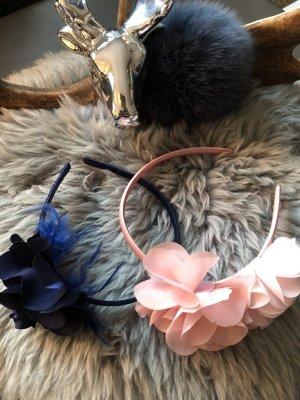 Bijou Brigitte Headdress dark blue-mauve