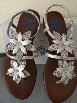 Arizona Toe-Post sandals silver-colored