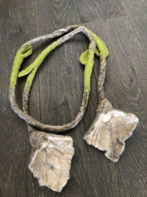 Handmade Stoffen riem veelkleurig Wol