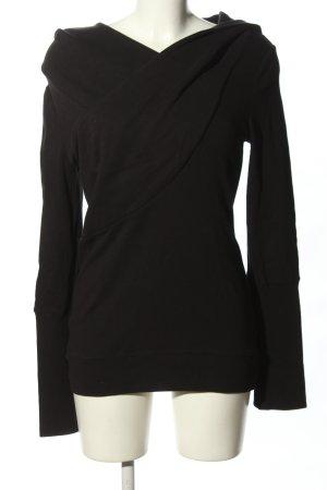 Blütezeit Berlin Jersey con capucha negro look casual