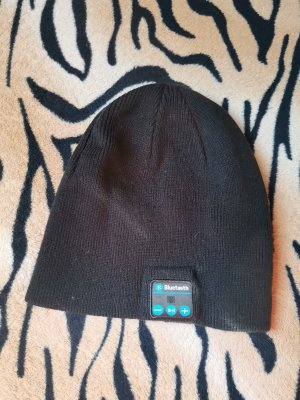 no name Knitted Hat black-neon blue