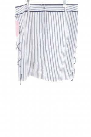 Blugirl Blumarine Ołówkowa spódnica biały-niebieski Wzór w paski