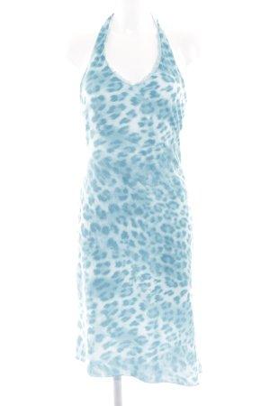 Blugirl Blumarine Midikleid blau-weiß Allover-Druck Elegant