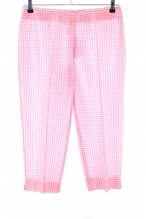 Blugirl Blumarine Jersey Pants pink-white check pattern casual look