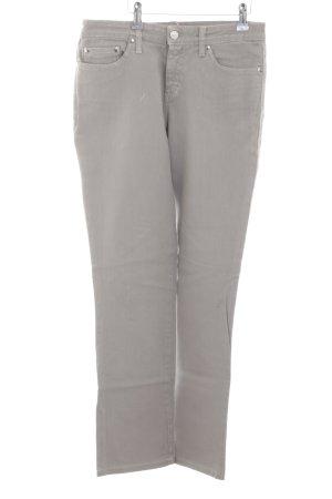 Blugirl Blumarine Straight-Leg Jeans hellgrau-silberfarben Logo-Applikation