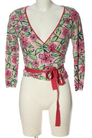Blugirl Blumarine Blouse portefeuille rose-vert motif de fleur