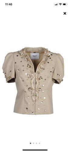 Blugirl bluse-Weste - Gold beige Np 485€ gr 38