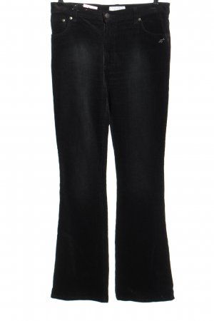 Blugirl Pantalón de pana negro estampado a rayas look casual