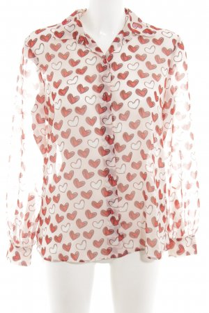 Blugirl Folies Shirt Blouse cream-red allover print business style