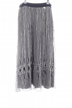 Blugirl Folies Midi Skirt black-white striped pattern casual look