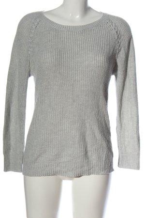 Blugirl Crewneck Sweater light grey cable stitch elegant
