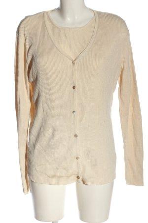 BLUHM COLLECTION Twin set in maglia crema stile casual