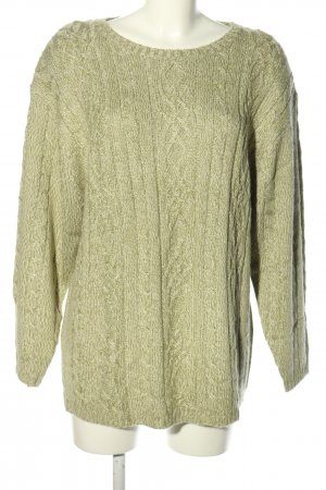 BLUHM COLLECTION Sweter z dzianiny khaki Melanżowy W stylu casual