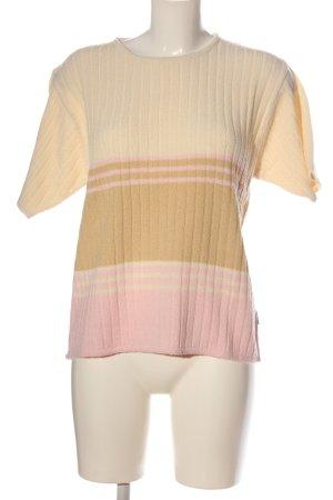 BLUHM COLLECTION Koszulka z dzianiny kremowy-różowy Wzór w paski