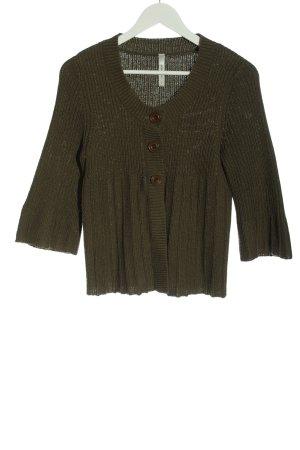 Bluhmod Cardigan khaki cable stitch casual look