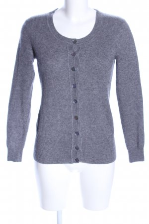 Bluhmod Cardigan hellgrau meliert Business-Look
