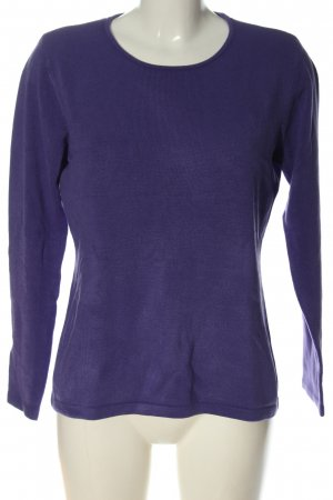 Bluhmod Knitted Sweater lilac cable stitch casual look
