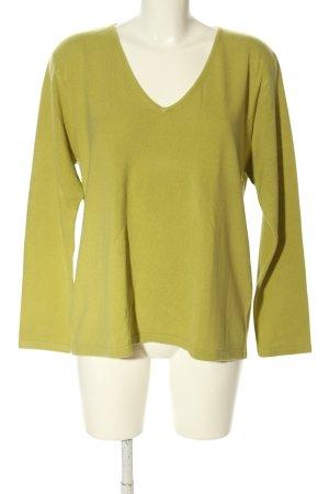 Bluhmod V-Ausschnitt-Pullover blassgelb Casual-Look