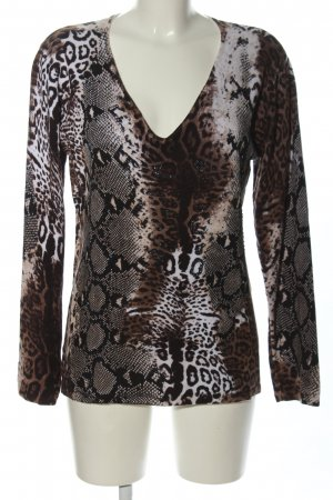 Bluhmod V-Neck Sweater allover print casual look