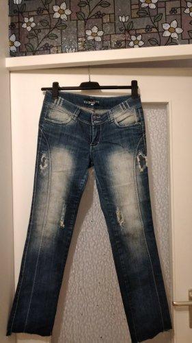 Barre Noire Stoffen broek donkerblauw