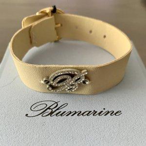 Blumarine Bransoletka kremowy-srebrny
