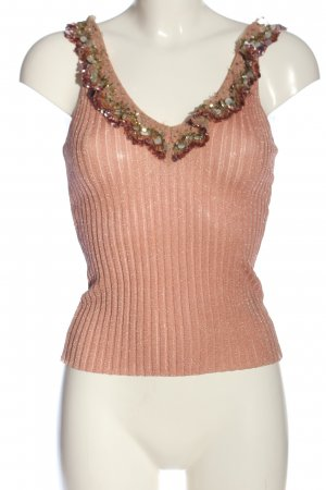 Blumarine Blouse Top nude cable stitch casual look
