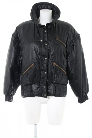 Blumarine Bomber Jacket black themed print casual look