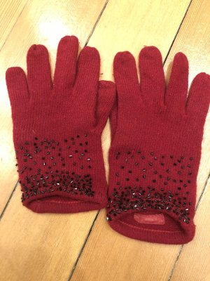 Blumarine Rękawiczki czerwony-czarny