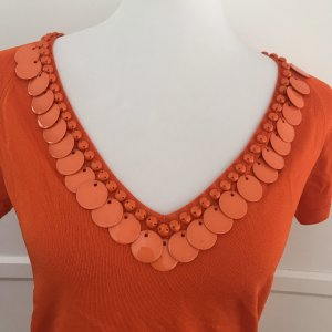 Blumarine Maglia con scollo a V arancione-arancio neon