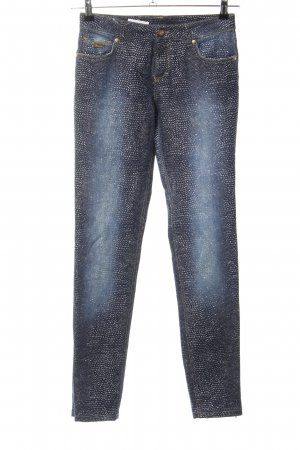 Blumarine Low Rise Jeans blue allover print casual look