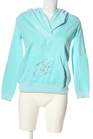 Blumarine Sweat à capuche turquoise style décontracté